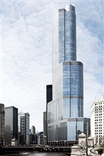 Chicago city skyscrapers iPhone wallpaper