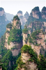 Chinese mountains, cliff iPhone wallpaper