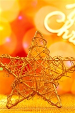 Christmas decoration, five-pointed star iPhone wallpaper