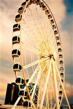 City Ferris wheel iPhone wallpaper