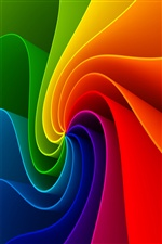 Colorful abstract stripes pooled iPhone Wallpaper