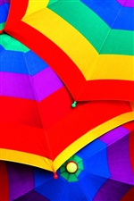 Colorful umbrellas iPhone wallpaper