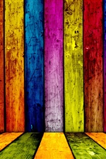 Colorful wooden abstract iPhone Wallpaper