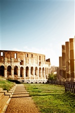 Colosseum, Italy, architecture, ruins iPhone wallpaper
