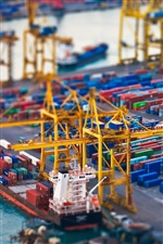 Container port photography iPhone wallpaper