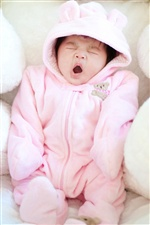 Cute Yawning Baby iPhone wallpaper