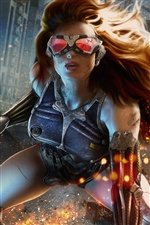 Game girl, glasses, spark iPhone wallpaper