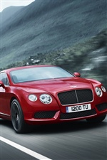 Red Bentley Continental GT V8 car iPhone wallpaper