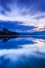 Taiwan evening, blue, lake, water iPhone wallpaper