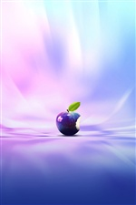 3D Apple blue style iPhone wallpaper