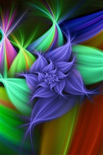 Abstract flower graphics iPhone wallpaper