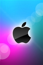 Apple blue and purple background iPhone wallpaper