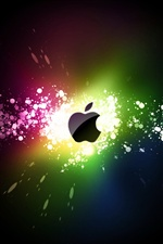 Apple colorful ray iPhone wallpaper