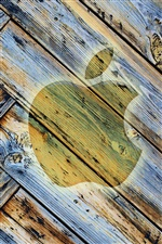 Apple wood background iPhone wallpaper