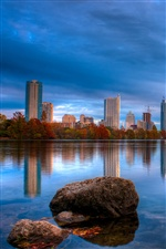 Austin Texas, lake, buildings iPhone wallpaper