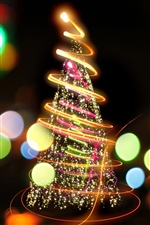 Beautiful fireworks christmas tree iPhone wallpaper