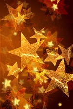 Christmas five-pointed star iPhone Wallpaper