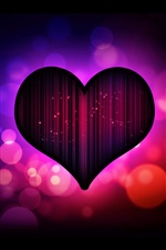 Dark purple heart love iPhone wallpaper