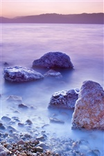 Dead Sea sunset iPhone wallpaper