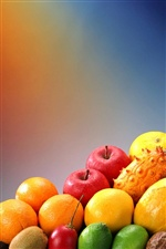 Delicious different fruits iPhone wallpaper