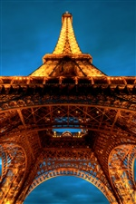 Eiffel Tower night lights iPhone Wallpaper