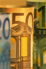 Euro currency macro iPhone wallpaper