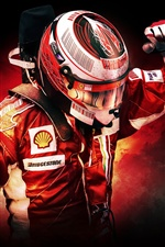 F1 racing driver iPhone wallpaper