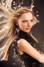 Fashion girl hair flying iPhone wallpaper