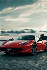 Ferrari 458 red supercar iPhone wallpaper