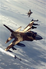 Fighter air battle iPhone wallpaper