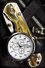 Folding knife and swiss watches iPhone wallpaper