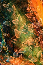 Foliage design abstraction iPhone wallpaper