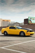 Ford Mustang GT500 yellow car iPhone wallpaper