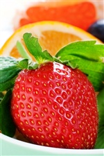 Fresh fruits, strawberries iPhone wallpaper