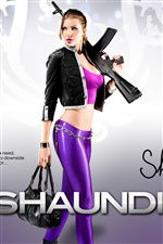Girl in Saints Row: The Third iPhone wallpaper