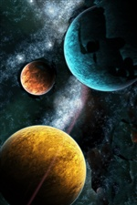 Three planets iPhone wallpaper