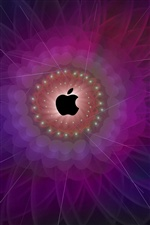 Apple abstract flower iPhone wallpaper