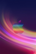 Apple abstract purple background iPhone wallpaper