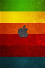 Apple at colorful stripes background iPhone wallpaper