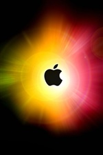Apple blinding light circles iPhone wallpaper
