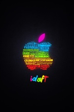 Colorful creative text Apple iPhone wallpaper