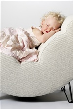 Cute little girl asleep iPhone Wallpaper