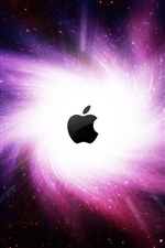 Galaxy whirlwind Apple iPhone wallpaper