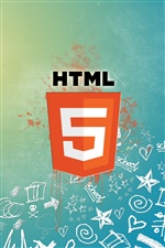 HTML5 logo iPhone wallpaper