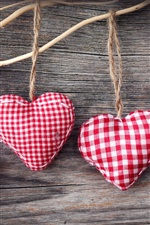 Handicrafts, heart-shaped cloth jewelry iPhone wallpaper