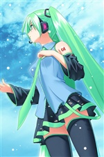 Hatsune Future anime girl iPhone Wallpaper
