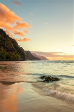 Hawaii ocean coast sunset iPhone wallpaper