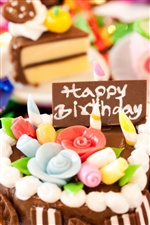 Holiday birthday cake iPhone wallpaper