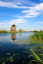 Holland Mill River channel iPhone wallpaper