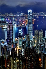 Hong Kong Night iPhone wallpaper